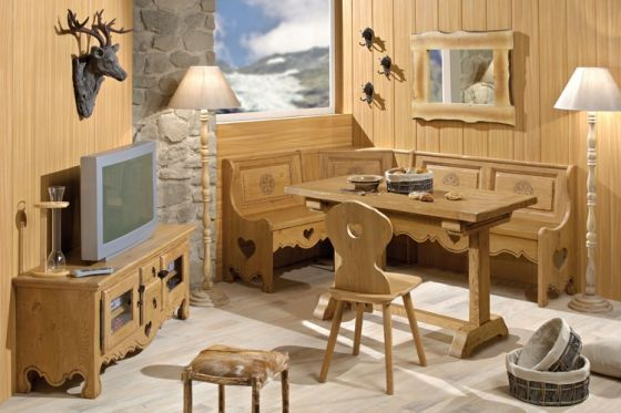 collection montagne coeur aravis meubles. Black Bedroom Furniture Sets. Home Design Ideas