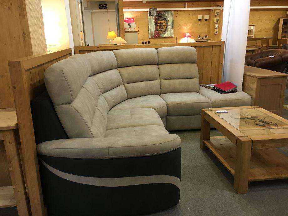 Salon d 39 angle tissus aravis meubles for Salon angle tissu