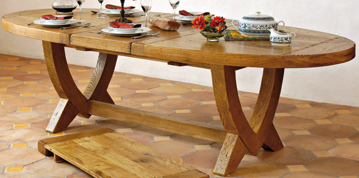 Table ovale chene aravis meubles for Table ovale but