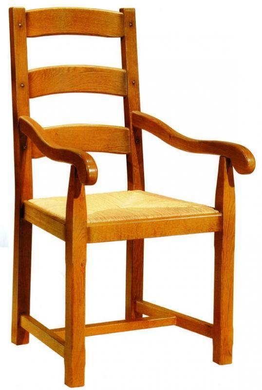 Chaise ch ne aravis meubles - Chaise ancienne avec accoudoir ...